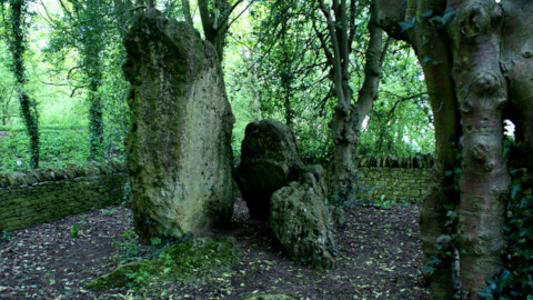 Landscape image, 'The Hoar Stone in myriad shades of green'